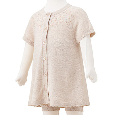 オーガニックコットン透かし編みブルマ付きチュニック 新生児70